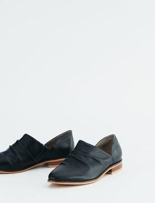 Salt + Umber Basque Leather Flat Bootie