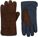 Barneys New York MEN'S COLORBLOCKED LEATHER GLOVES