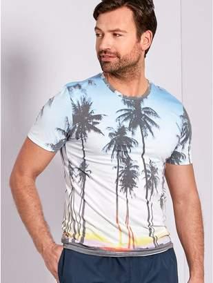 M&Co Palm print t-shirt