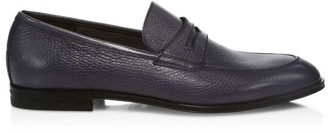 Bally Grained Leather Penny Loafers