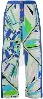 Emilio Pucci Bes print cropped trousers