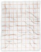 Deny Designs Little Arrow Design Co Blush Grid Woven Throw Blanket