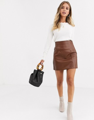 Glamorous mini skirt in faux croc