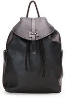 Alexander McQueen Stud-Skull Leather Backpack, Black