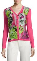 Versace Long Sleeve Printed Cardigan
