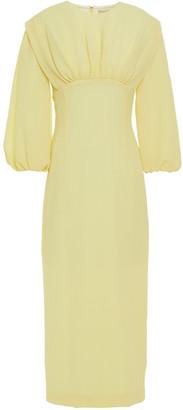 Emilia Wickstead Isadora Gathered Crepe-seersucker Midi Dress