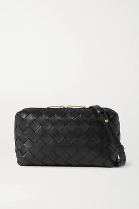 Bottega Veneta Small Intrecciato Leather Shoulder Bag - Black