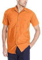 Wolverine Red Kap Men's Industrial Short-Sleeve Work Shirt,Navy, 4X-Large