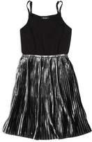 Bardot Junior Girls' Metallic-Pleated Dress