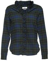 Etoile Isabel Marant Awendy Ruffle-trimmed Checked Cotton Shirt