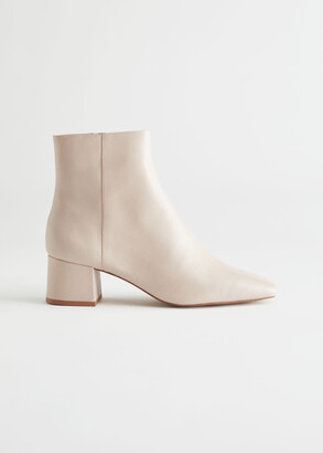 And other stories Leather Heeled Ankle Boots