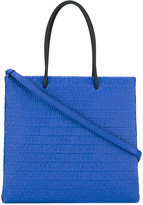 Moschino logo embossed tote