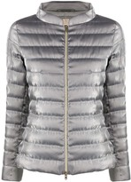 Herno zip-through quilted-down jacket