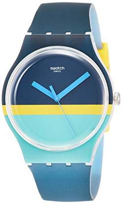 Swatch Mens Analogue Quartz Watch with Silicone Strap SUOW154