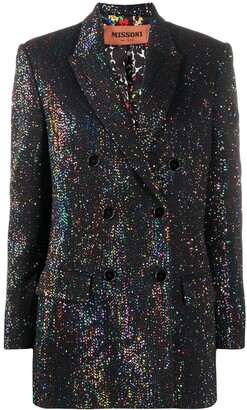 Missoni Metallic-Threading Double-Breasted Blazer