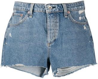 Rag & Bone Misha distressed denim shorts