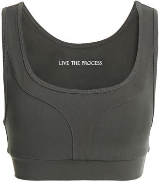 Live The Process Geometric Paneled Stretch-supplex Sports Bra