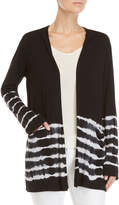Ppla Black Tie-Dye Hooded Open Jersey Cardigan