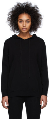 Live The Process Black Oversized Knit Hoodie
