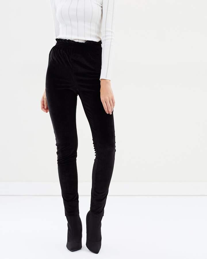 Almeria Velvet Shirred Leggings