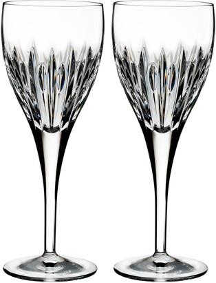 Waterford Mara Set of 2 Lead Crystal Wine Glasses
