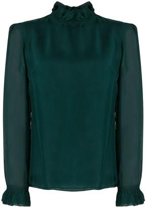 Goat Kasper ruffle-trimmed blouse