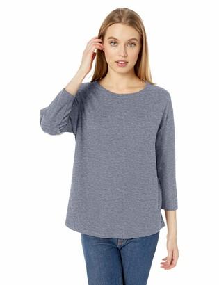 Daily Ritual Amazon Brand Women's Cozy Knit Bateau-Neck 3/4-Sleeve Tunic
