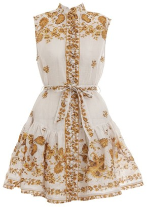 Zimmermann Short Amelie Floral Dress