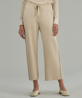Atm Cashmere Blend Sweater Pants - Sandstone/ Chalk Combo
