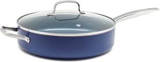 Blue Diamond Enhanced Ceramic Nonstick 5-qt. Saute Pan with Lid As Seen on TV