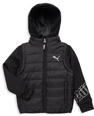 Puma Little Boy's Twofer Vest Jacket