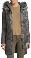 Spyder Pave Silver Fox Fur-Trimmed Down Coat