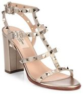 Valentino Rockstud Metallic Leather City Sandals