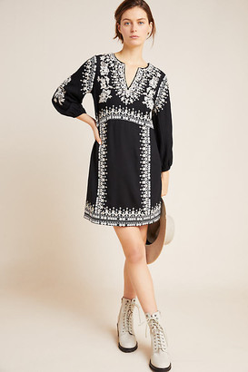 Maeve Shiloh Embroidered Tunic By in Black Size 0