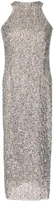 Rachel Gilbert Lucia metallic-tone sleeveless midi dress