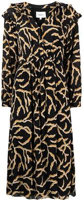 BA&SH Candice abstract-print midi dress