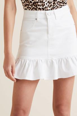 Seed Heritage Ruffle Hem Denim Skirt
