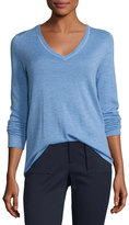 ATM Anthony Thomas Melillo Cashmere V-Neck Sweater, Blue