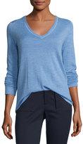 ATM Anthony Thomas Melillo Cashmere V-Neck Sweater, Blue