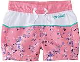Animal Girl's Flowery Floral Swim Shorts