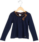 Little Marc Jacobs Girls' Bow-Adorned Long Sleeve Top