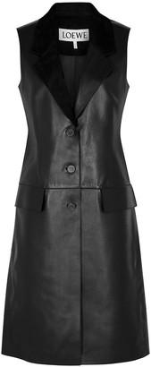 Loewe Black leather gilet