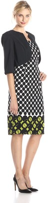 Maya Brooke Women's Bolero Jacket with Printed Dress