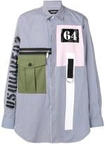 DSQUARED2 flap pocket striped shirt