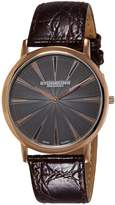 Stuhrling Original Men's 682.04 Orchestra Analog Display Swiss Quartz Brown Watch