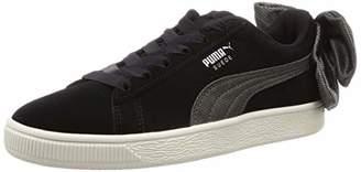 Puma Women's Suede Bow Hexamesh WN's Low-Top Sneakers, Black-Dark Shadow