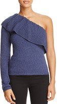 Ella Moss Loli Ruffled One-Shoulder Sweater