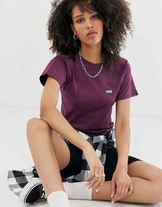 Vans Small Logo burgundy t-shirt-Red