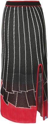 Maison Mihara Yasuhiro Intarsia-Knit Mid-Lenght Skirt