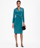Brooks Brothers Silk Crepe V-Neck Dress